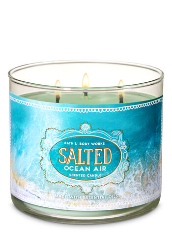 Salted Ocean Air 3-Wick Candle - Bath And Body Works