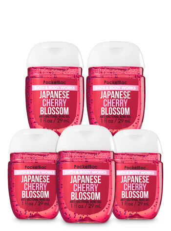 Japanese Cherry Blossom Pocketbac Hand Sanitizer 5-Pack - Bath And Body Works