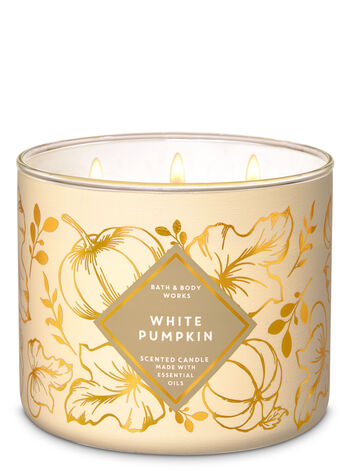 White Pumpkin 3-Wick Candle - Bath And Body Works