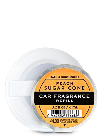 Peach Sugar Cone Car Fragrance Refill - Bath And Body Works