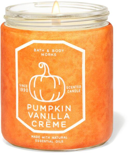 Pumpkin Vanilla Crème Single Wick Candle