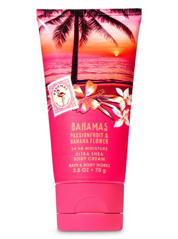 Signature Collection Pink Passionfruit & Banana Flower Travel Size Body Cream - Bath And Body Works