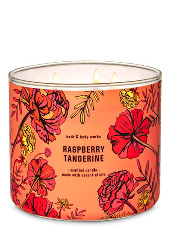 Raspberry Tangerine 3-Wick Candle - Bath And Body Works