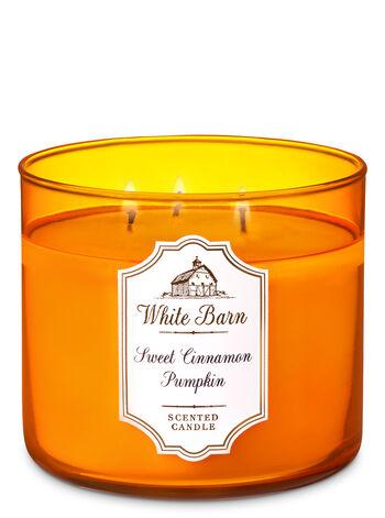 White Barn Sweet Cinnamon Pumpkin 3-Wick Candle - Bath And Body Works