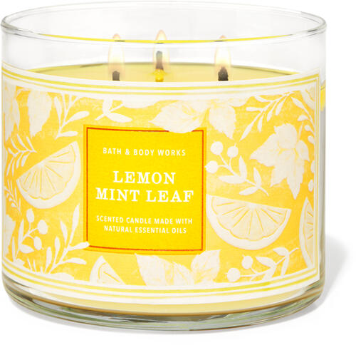 Lemon Mint Leaf 3-Wick Candle