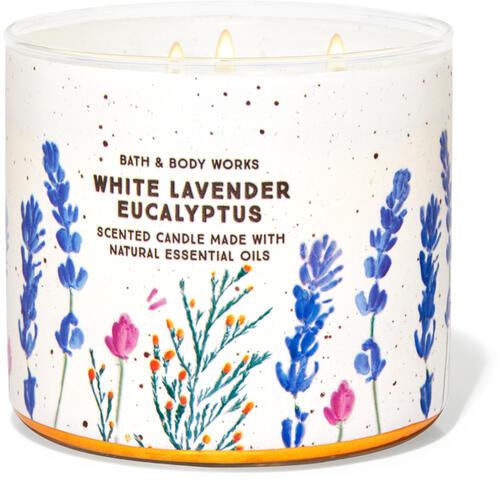 White Lavender Eucalyptus 3-Wick Candle