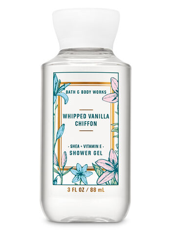 Whipped Vanilla Chiffon Travel Size Shower Gel - Bath And Body Works