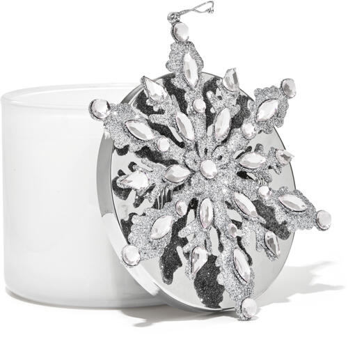 White Snowflake 3-Wick Candle Magnet
