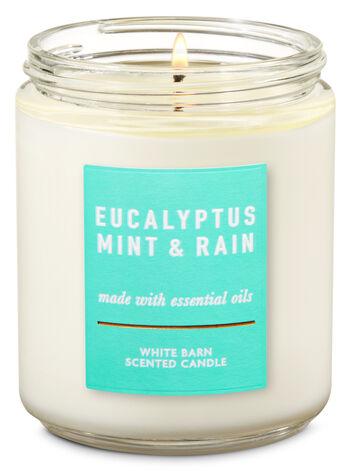 Eucalyptus Mint & Rain Single Wick Candle - Bath And Body Works