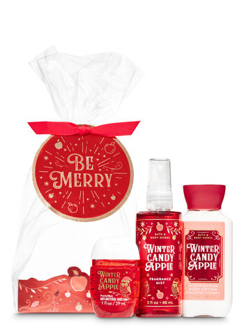 Winter Candy Apple Be Merry Mini Gift Set - Bath And Body Works