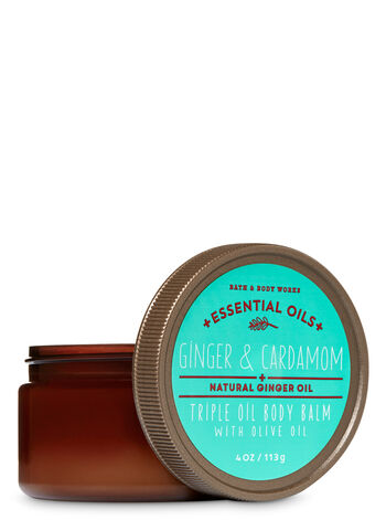 Signature Collection Ginger & Cardamom Triple Oil Body Balm with Olive Oil - Bath And Body Works