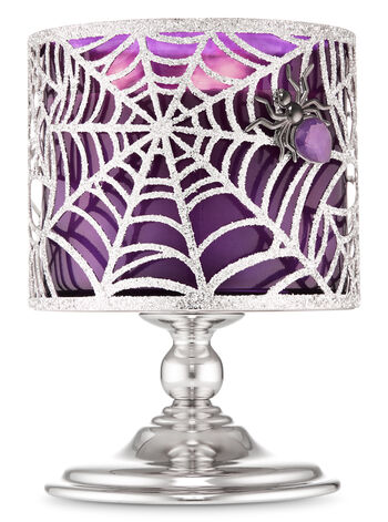 Sparkly Spider Web Pedestal 3-Wick Candle Holder - Bath And Body Works