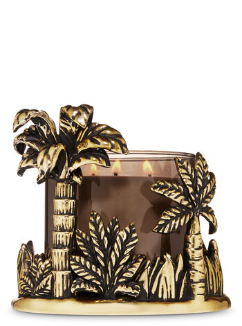 Gold Jungle 3-Wick Candle Holder
