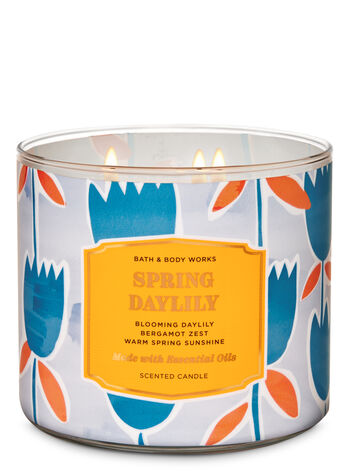 Spring Daylily 3-Wick Candle - Bath And Body Works
