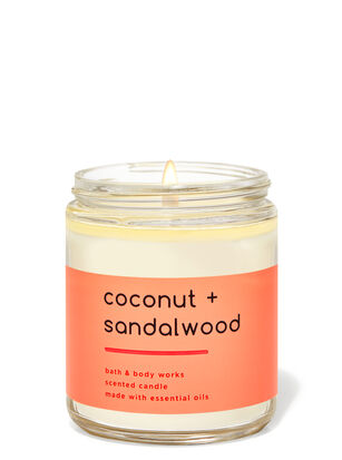 Coconut Sandalwood Single Wick Candle