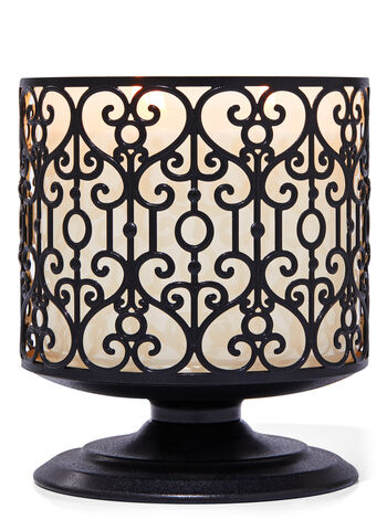 Ornate Heart Pedestal 3-Wick Candle Holder