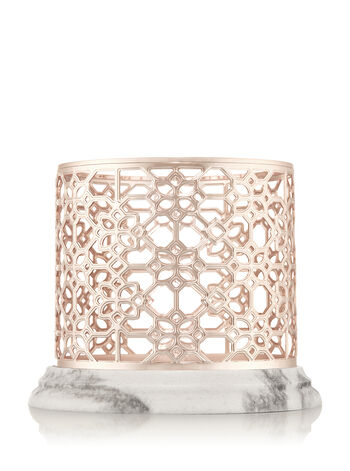 rose gold marble 3 wick candle sleeve bath body works. Black Bedroom Furniture Sets. Home Design Ideas