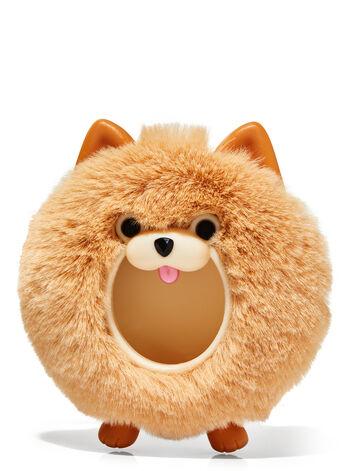 Fuzzy Pomeranian Visor Clip Car Fragrance Holder