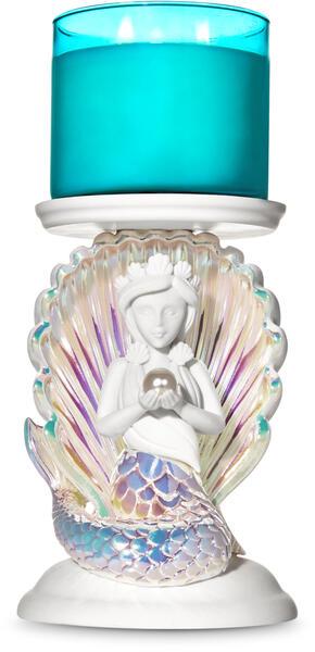 Mermaid Pedestal 3-Wick Candle Holder