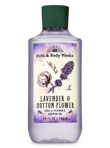 Signature Collection Lavender & Cotton Flower Shower Gel - Bath And Body Works