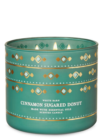Cinnamon Sugared Donut 3-Wick Candle - Bath And Body Works