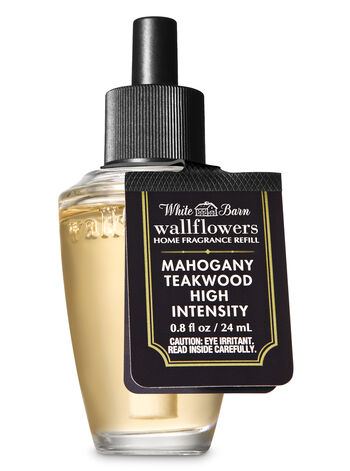 White Barn Mahogany Teakwood High Intensity Wallflowers Fragrance Refill - Bath And Body Works
