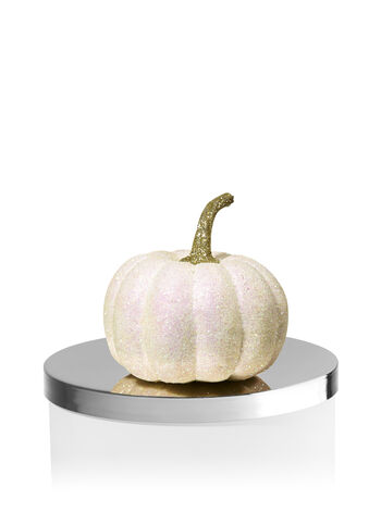 Glittery White Pumpkin Candle Magnet - Bath And Body Works