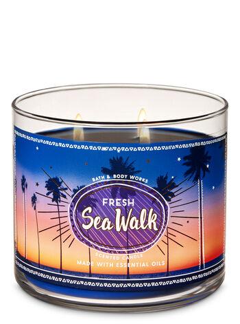 Fresh Sea Walk 3-Wick Candle - Bath And Body Works