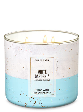 White Barn White Gardenia 3-Wick Candle - Bath And Body Works