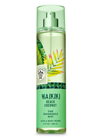 Signature Collection Waikiki Beach Coconut Fine Fragrance Mist - Bath And Body Works