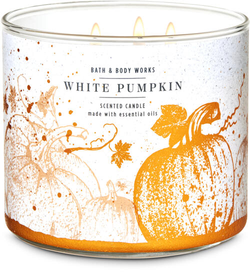 White Pumpkin 3-Wick Candle