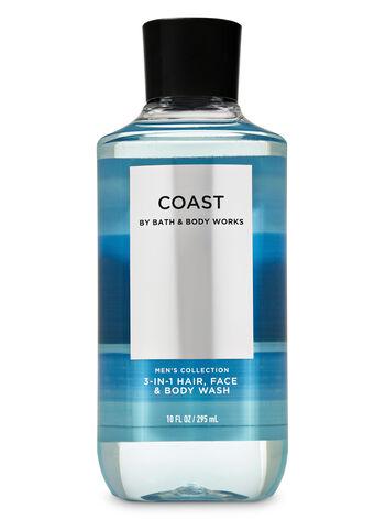 Coast 3-in-1 Hair, Face & Body Wash