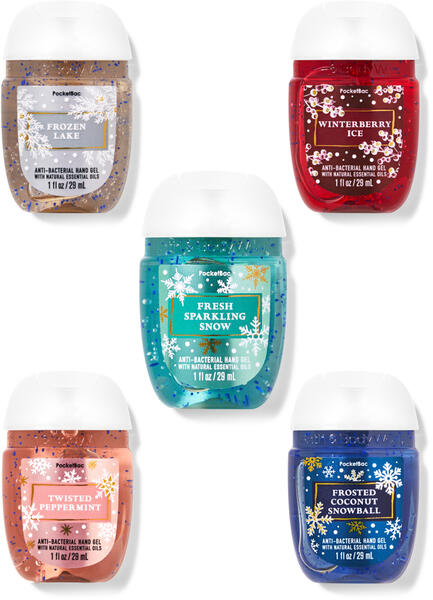 Snowy Adventures PocketBac Hand Sanitizers, 5-Pack