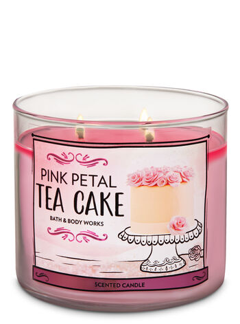 Pink Petal Tea Cake 3-Wick Candle - Bath And Body Works