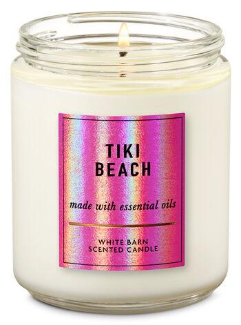 Tiki Beach Single Wick Candle - Bath And Body Works