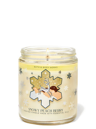 Snowy Peach Berry Single Wick Candle