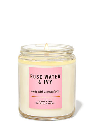 Rose Water & Ivy Single Wick Candle