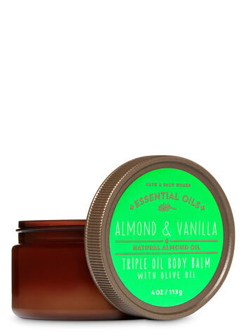 Signature Collection Almond & Vanilla Triple Oil Body Balm with Olive Oil - Bath And Body Works