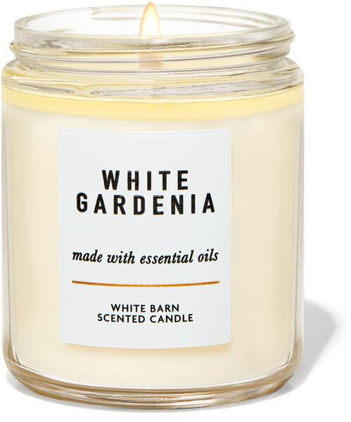 White Gardenia Single Wick Candle