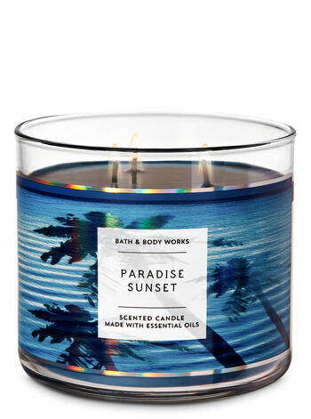 Paradise Sunset 3-Wick Candle - Bath And Body Works