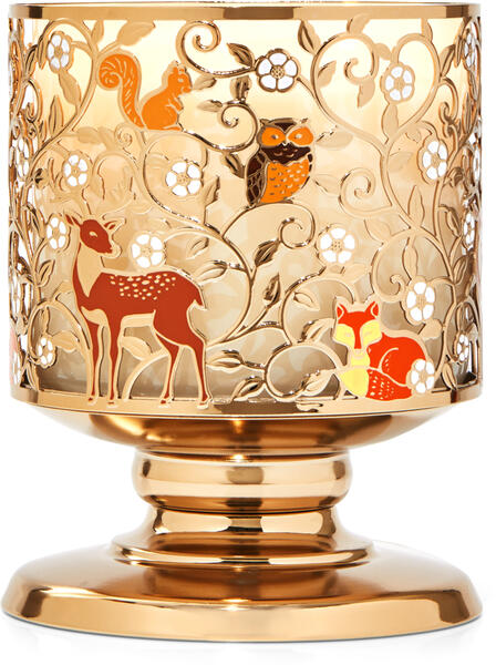 Cute Critters Pedestal 3-Wick Candle Holder