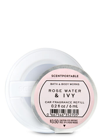 Rose Water & Ivy Car Fragrance Refill - Bath And Body Works