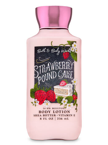 Strawberry Pound Cake Super Smooth Body Lotion - Bath And Body Works