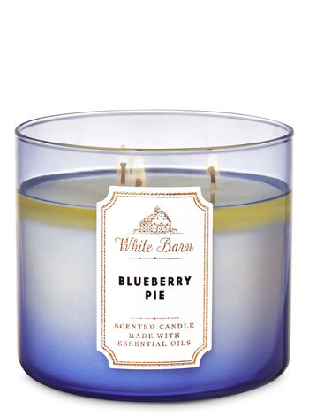 White Barn Blueberry Pie 3-Wick Candle - Bath And Body Works