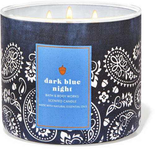 Dark Blue Night 3-Wick Candle
