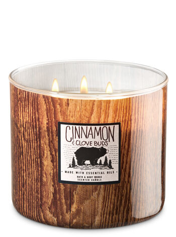 White Barn Cinnamon & Clove Bud 3-Wick Candle - Bath And Body Works