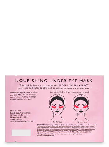 Pink Hydrogel with Elderflower Extract Under Eye Mask