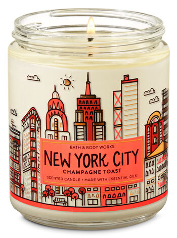 Champagne Toast Single Wick Candle - Bath And Body Works