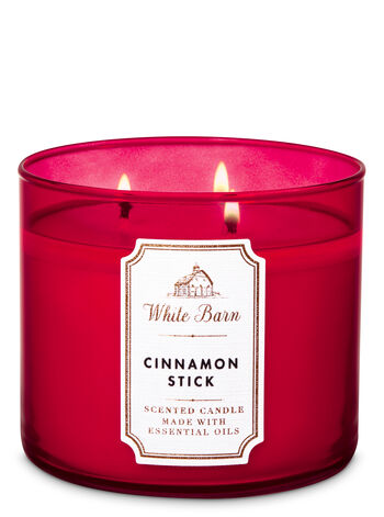 White Barn Cinnamon Stick 3-Wick Candle - Bath And Body Works