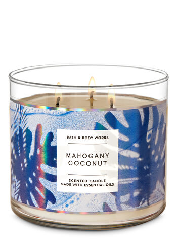Mahogany Coconut 3-Wick Candle - Bath And Body Works